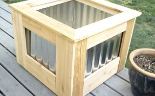 diy cedar galvanized roofing deck box
