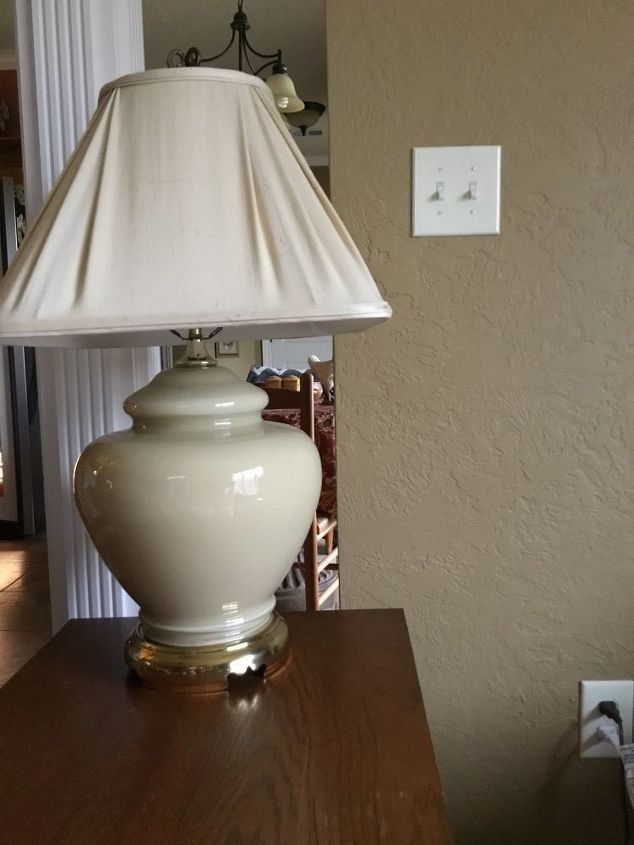 q what types of lampshades can you use on a ginger jar lamp