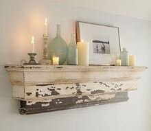 pottery barn inspired decorative ledge