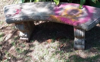Any suggestions on how to restore a concrete bench?