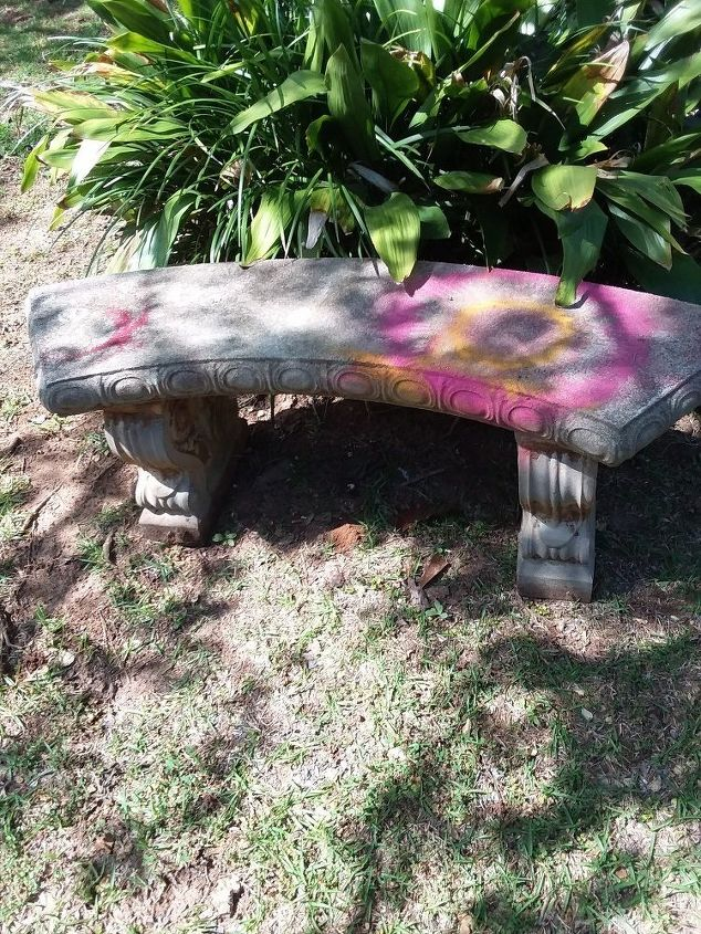 q any suggestions on how to restore a concrete bench