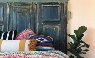 how to make a headboard from a deconstructed armoire paint velvet