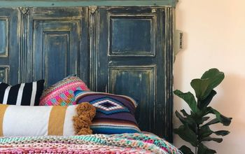 How to Make a Headboard From a Deconstructed Armoire & Paint Velvet