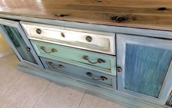 Spit and Planks! 80's Buffet Turned Coastal Console!