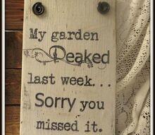 rustic wood garden sins