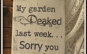 Rustic Wood Garden Signs