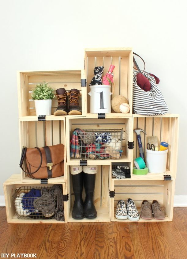 easy crate shelving on a budget