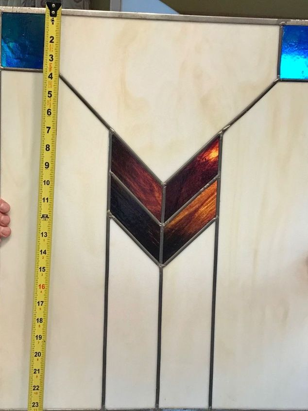 q saved from the trash beautiful stained glass panels what do i do