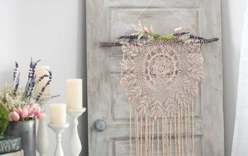 Make a Boho Wall Hanging From a Thrifted Doily