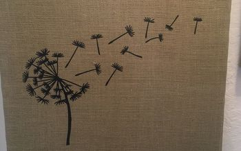 recycled canvas picture giving them a potter barn look, I like dandelions