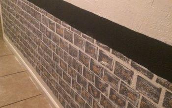 I Painted Bricks on the Hallway Walls.