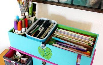 DIY Desktop Organizer for Scrapbooking & Craft Supplies