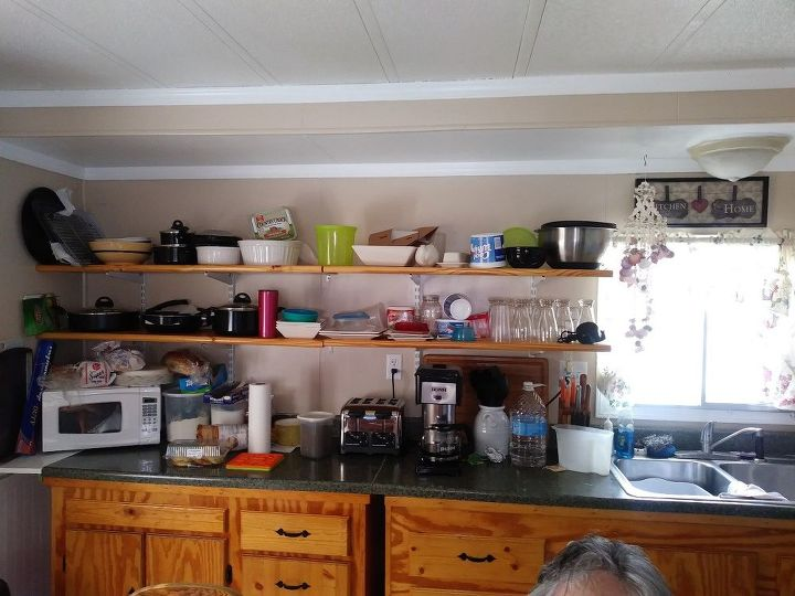 q i don t have cabinets in part of kitchen how can i make it look bette