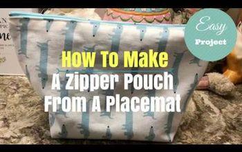 Make A Zipper Pouch From A Placemat