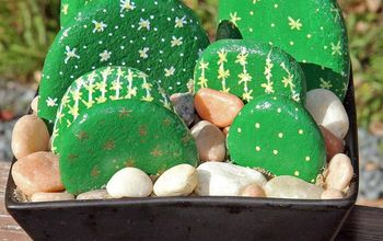 Make a Painted River Rock Cactus That Will Never Die