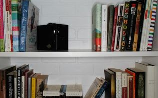 faux brick backed bookshelves an ikea hack how to