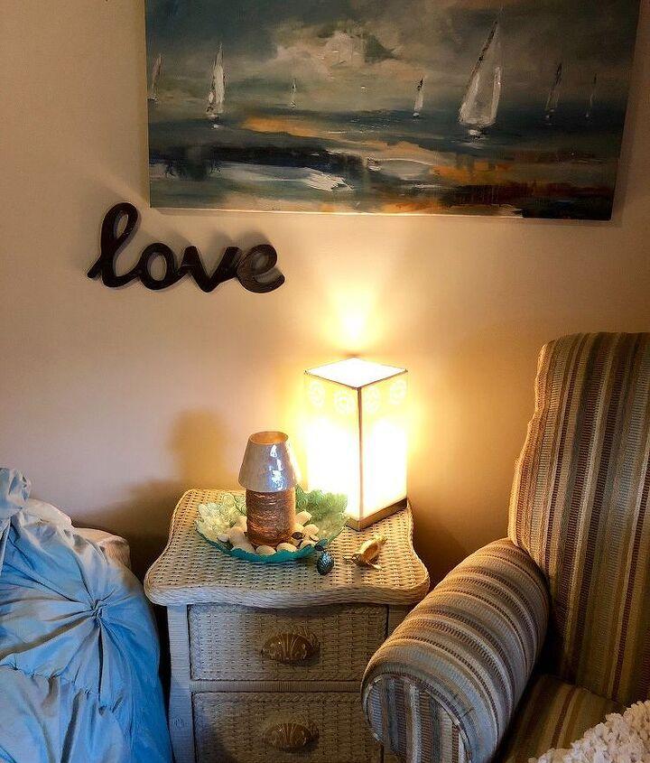 pottery barn inspired coastal bedroom sitting nook