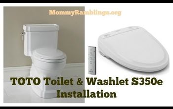 How To Install A TOTO Toilet With Washlet Bidet Seat