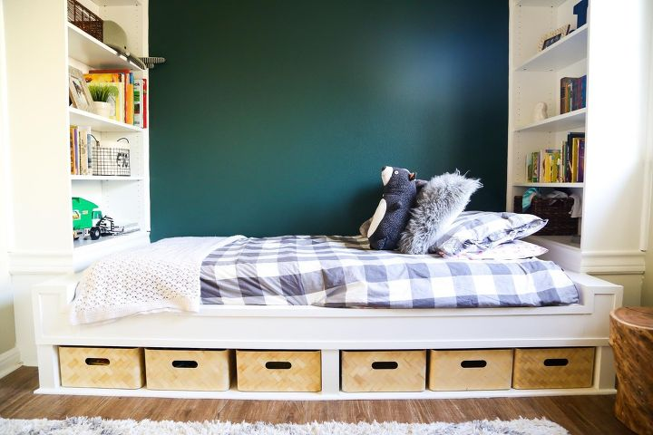 s the top 15 home improvement diy ideas this month, DIY Build In Daybed With Bookshelves