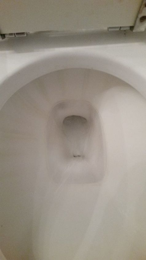 q in cleaning the toilet it got scratched how can i fix this