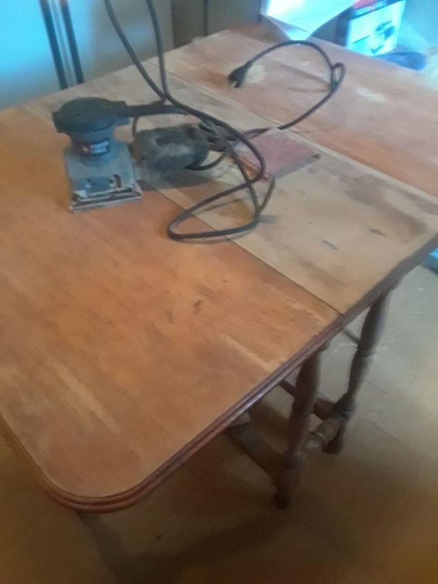 Old Drop Leaf Table To A Desk Hometalk