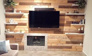 living room shiplap wall