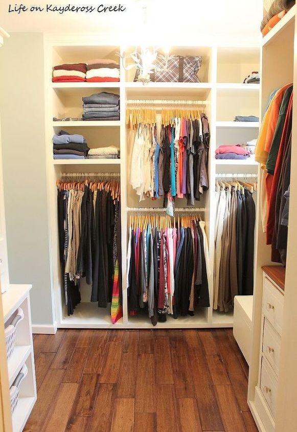 s top 12 ways to organize your bedroom closet, Beautiful Built Ins On A Budget