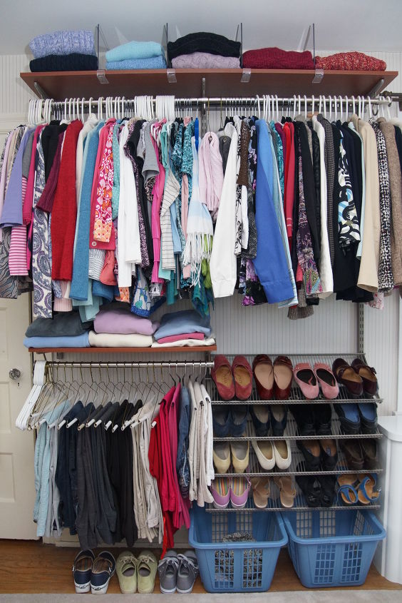s top 12 ways to organize your bedroom closet, Space Saving Wire Shelves