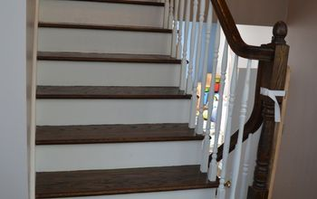 outdated oak staircase makeover