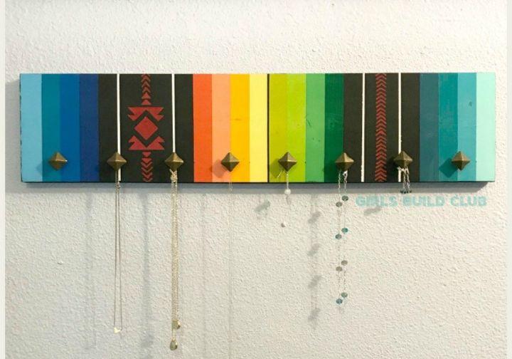 painted serape jewelry organizer diy