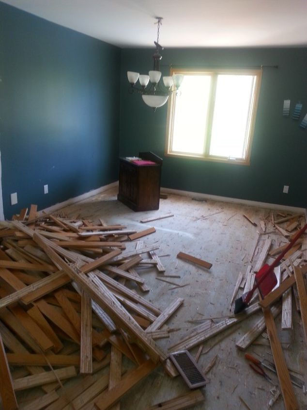 how to replace outdated oak floors
