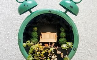 tick tock it s a fairy garden in a clock