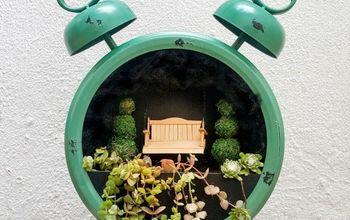 tick tock it s a fairy garden in a clock