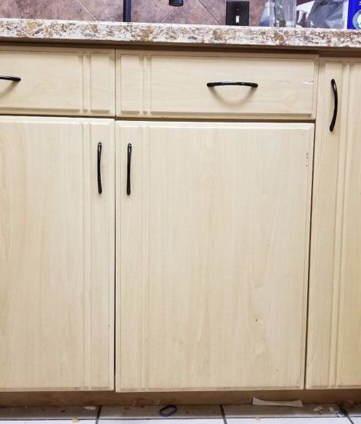 how frustration and an accident ended in a new kitchen cabinet look