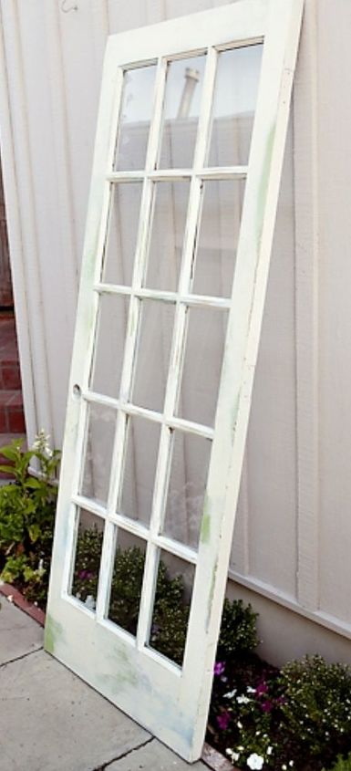 I Found This Old Glass Door At An Antique Fair Heres How I Turned