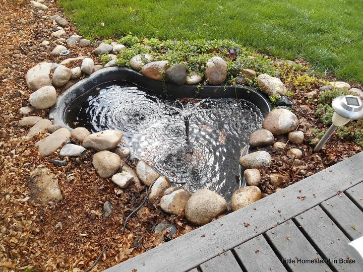 diy pond flagstone edging makeover