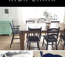 easy diy how to paint an old wooden high chair