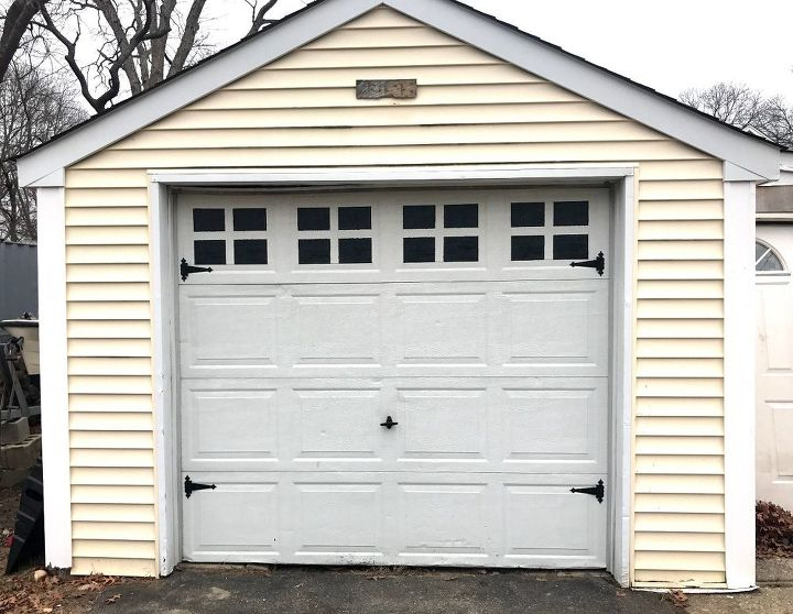 s 15 totally doable makeover ideas you can finish in one day, Spray paint faux windows on your garage door
