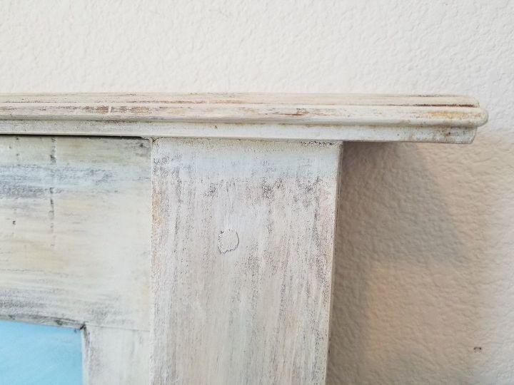 vintage glass pane door headboard