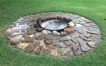 flagstone firepit for the backyard