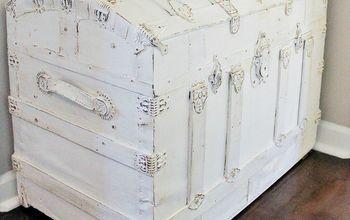 vintage trunk makeover