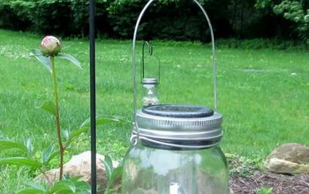 Hanging Solar Mason Jar Lights: Dollar Tree DIY