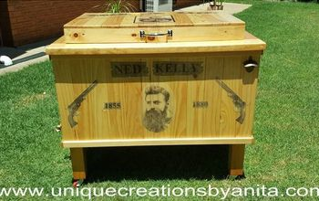 Ned Kelly Themed Patio Cooler