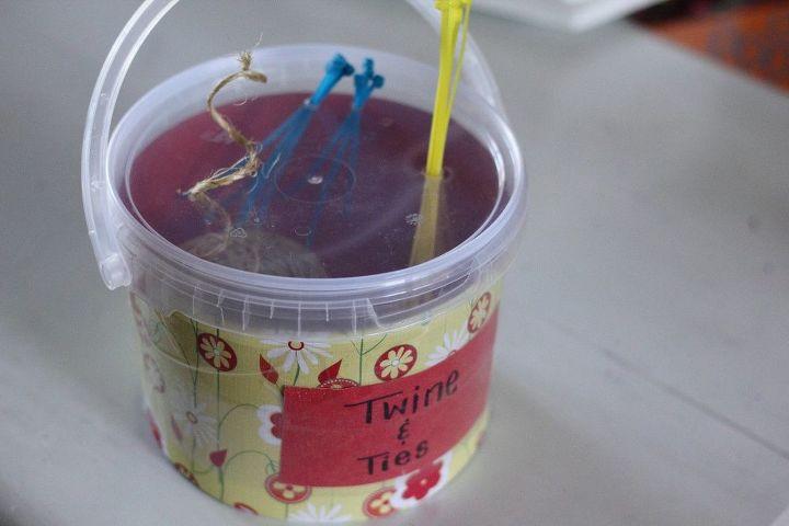 diy garden twine bucket