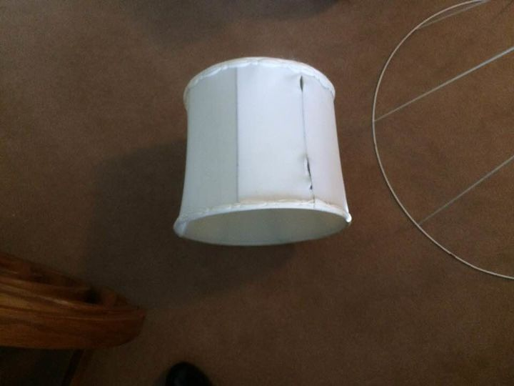q how can i cover this lamp shade
