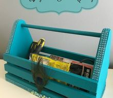 upcycled caddy for craft tool storage