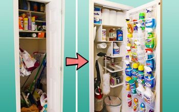 cleaning closet makeover, Our cleaning closet transformation