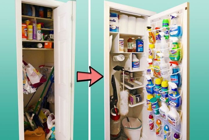 Our cleaning closet transformation