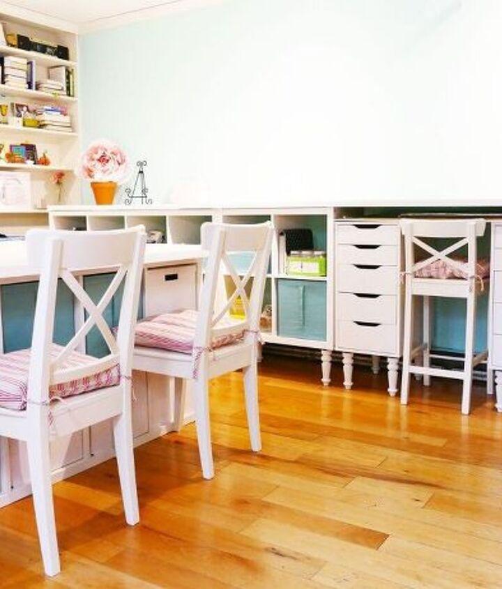 My craft room before I added the shelf.