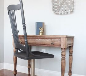 Diy modern vintage furniture makeover Pinterest Diy Modern Vintage Style Chair Makeover With Gold Spray Paint Hometalk Chair Makeover With Gold Spray Paint Hometalk